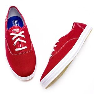 NEW Keds Champion Red Canvas Classic Sneakers